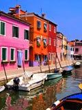 Красочное Burano, Италия Стоковые Фотографии RF