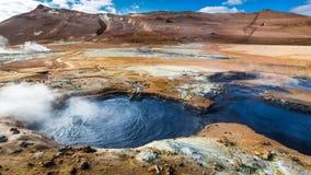 Красочное llandscape Namafjal, Исландия Стоковые Фотографии RF