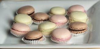 Красочное Macaron в конце вверх стоковое изображение