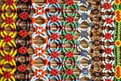 Красочное Murut отбортовывая работу стоковая фотография