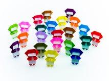 Красочное Origami Ninja Стоковые Фото