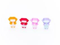 Красочное Origami Ninja Стоковое Изображение