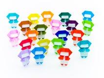 Красочное Origami Ninja Стоковое Изображение RF