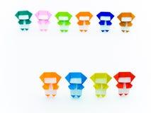 Красочное Origami Ninja Стоковые Фотографии RF