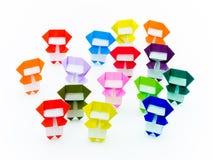 Красочное Origami Ninja Стоковая Фотография