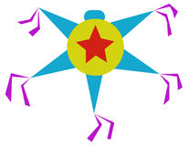 Красочное piñata иллюстрация вектора