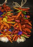 Красочное Ristras стоковое фото rf