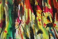 Красочной цвета запачканные пастелью, контрасты, предпосылка waxy краски творческая стоковая фотография