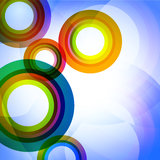 Красочные абстрактные круги иллюстрация вектора