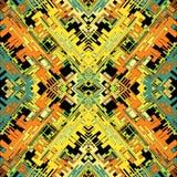 Красочные абстрактные полигоны и линии геометрическая предпосылка vector иллюстрация Стоковая Фотография