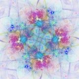 Красочные абстрактные фейерверки или цветок Стоковые Изображения