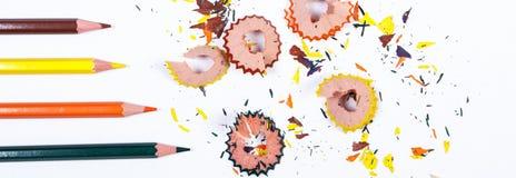 красочные аксессуары школы на белой предпосылке стоковое фото rf