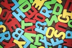 Красочные алфавиты на древесине Стоковое фото RF