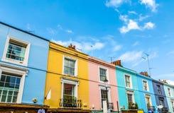 Красочные английские террасные дома стоковая фотография rf