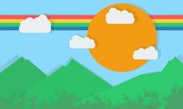 Красочные ландшафты и плоский Стоковая Фотография RF