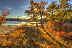 Красочные ландшафты пейзажа падения стоковые изображения