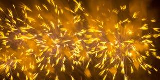 Красочные атмосферические фейерверки в честь дня победы Советского Союза в Второй Мировой Войне стоковые фотографии rf