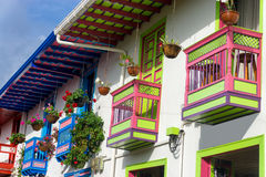 Красочные балконы в Salento стоковая фотография