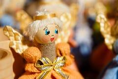 Красочные белорусские куклы соломы на рынке в Беларуси Стоковые Изображения