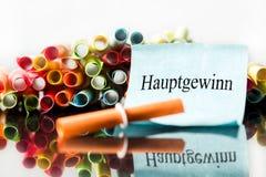 Красочные билеты лотереи, билет с немецким словом стоковые изображения