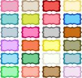 Красочные бирки вида Стоковое фото RF