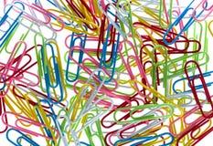 Красочные бумажные зажимы Стоковое Изображение RF