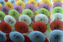 Красочные бумажные зонтики Стоковое Изображение