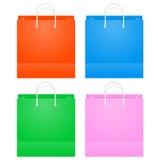 Красочные бумажные хозяйственные сумки Стоковое Изображение RF
