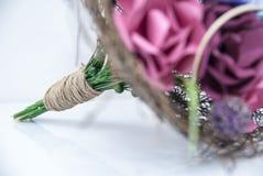 Красочные бумажные цветки - букет невесты Стоковое Изображение