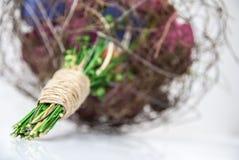 Красочные бумажные цветки - букет невесты Стоковая Фотография
