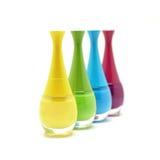 Красочные бутылки маникюра изолированные на белизне Стоковое Фото