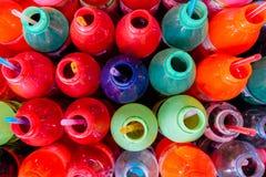 Красочные бутылки Стоковые Изображения RF