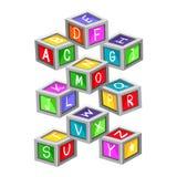 Красочные блоки письма игрушки бесплатная иллюстрация