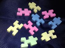 Красочные блоки для детей на черной предпосылке Стоковое фото RF