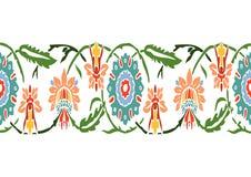 Красочные винтажные wildflowers граничат флористическую предпосылку безшовный v Стоковое Изображение RF