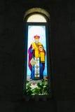 Красочные витражи Святых христианской церков Стоковые Фото