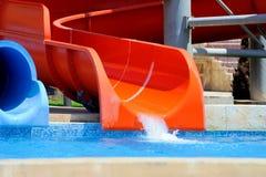 Красочные водные горки Стоковые Изображения