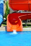 Красочные водные горки Стоковое Изображение RF