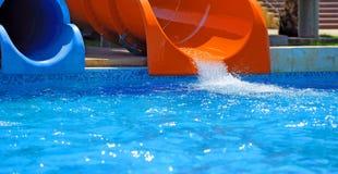Красочные водные горки Стоковая Фотография