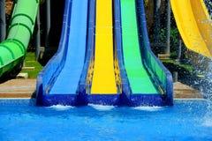 Красочные водные горки Стоковая Фотография RF