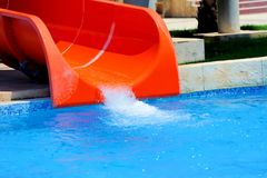 Красочные водные горки Стоковые Изображения RF