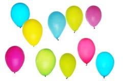Красочные воздушные шары на светлой предпосылке стоковое фото