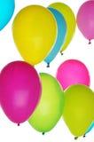 Красочные воздушные шары на светлой предпосылке стоковые фото