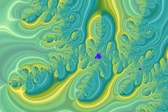 Красочные волны фрактали Стоковое Изображение RF