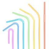 Красочные выпивая установленные соломы 3D Striped значок изолированный в белой предпосылке также вектор иллюстрации притяжки core Стоковая Фотография