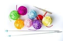 Красочные вязать шарики потока Стоковое Фото