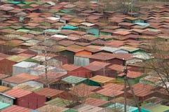 Красочные гаражи металла Стоковая Фотография