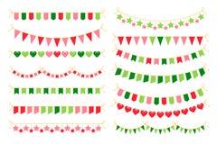 Красочные гирлянды с флагами Элемент дизайна масленицы Стоковое Фото