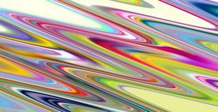Красочные голубые розовые зеленые желтые линии, сравнивают абстрактную предпосылку Стоковое Изображение RF