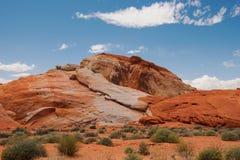 Красочные горные породы в долине парка штата огня Стоковое Изображение RF